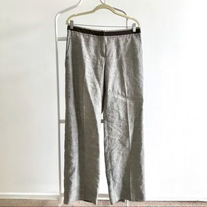 Max Mara linen pants Grey Brown Size 6-8